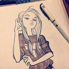 « #Inktober 4 #girls»