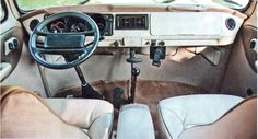 The Kombi Dacon 824 interior with air conditioned and Porsche 944 panel and steering wheel