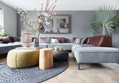 Woonkamer Living Room Grey, Living Room Interior, Foyers, Interior Design Inspiration, Decor Interior Design, Cosy Corner, Wall Colors, Home Fashion, Interior Architecture