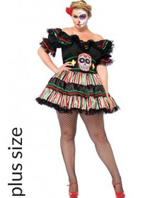 Day of the Dead Doll Womens Plus Size Costume | THEMES