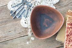 Hand Made Ceramic Eco-Friendly Triangle Bowl Hand Carved