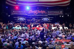 """Lots #1351, #1352, #1353 – the famed """"Serial One"""" Corvettes – sold as a trio for $1,815,000."""