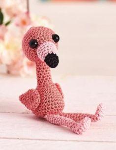 Amigurumi: Flamingo-Kuscheltier häkeln - Häkelanleitung via Makerist.de