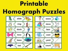 Homograph Puzzle Activity (multiple meaning words) - Fun for Learning - TeachersPayTeachers.com