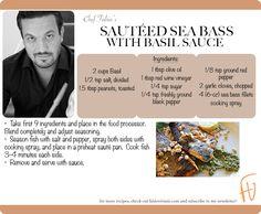 Sautéed Sea Bass with Basil Sauce #NewYears #2013 #healthy