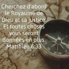 La Bible - Versets illustrées - Matthieu 6:33 - Cherchez d'abord le Royaume de…