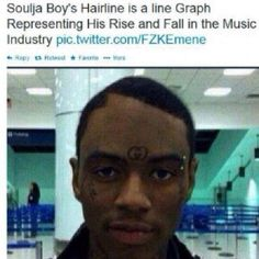 What Happened To Soulja Boy's Hairline Though? Funny Memes, Hilarious, Jokes, Funny Pins, Funny Stuff, Really Funny, The Funny, People Twitter, Soulja Boy