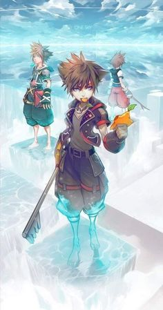Sora's my favorite character from Kingdom Hearts and I collect and draw images featuring him and his friends. Kingdom Hearts Wallpaper, Kingdom Hearts Games, Kingdom Hearts Characters, Kingdom Hearts Fanart, Cry Anime, Anime Art, Girls Anime, Anime Guys, Manga Girl