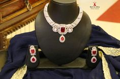 Made in american diamonds and semi precious stones pair this piece of jewelry with any ensemble for a polished look. Find this beautiful set Rent an Attire.  Try it♡ Book it ♡ Flaunt it~ Rent an Attire  #fashion #beauty #rentanattire #thejewelbox #bridaljewellery