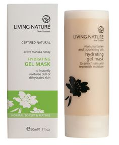Hydrating Gel Mask from Living Nature. With manuka honey, glycerin & carrot extract. Gel Mask, Hydrating Mask, Manuka Honey, Best Natural Skin Care, Fragrance Parfum, Melaleuca, Facial Cleanser, Oily Skin, Shea Butter