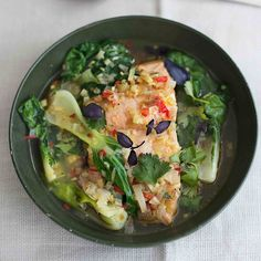 Amelia Freer's Poached Thai Salmon With Pak Choi  - Woman And Home