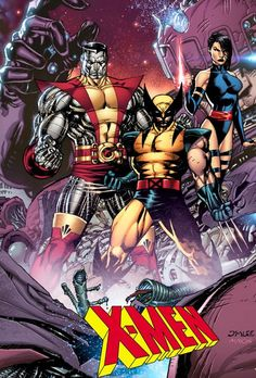 Colossus, Wolverine Psylocke by Jim Lee Comic Movies, Comic Book Characters, Marvel Characters, Comic Books Art, Comic Art, Book Art, Marvel Comics, Marvel Comic Universe, Comics Universe