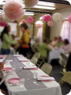 homemade by jill: Pom Pom Tips (and other handmade party details)