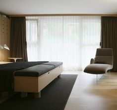 FELTRO BASIC in The Hotel Omnia Zermatt leaves plenty of latitude for timeless room designs. Zermatt, Interior Inspiration, Beds, Bedrooms, Leaves, Couch, Interior Design, Architecture, Furniture