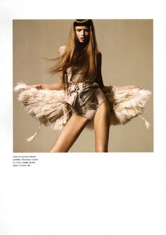 """Abbey Lee Kershaw photographed by Miguel Reveriego in """"Oiseau Rare"""" for Numéro — Portraits Of Girls Feather Photography, Fashion Photography, Abbey Lee Kershaw, Feather Fashion, Feather Headpiece, Vogue Korea, Editorial Fashion, Fashion Trends, Fashion Pictures"""