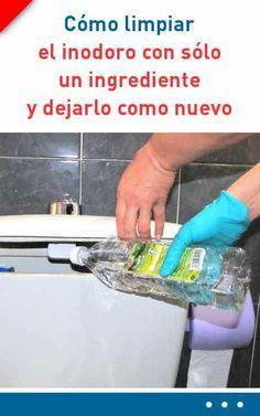 #limpieza #baño #casa #inodoro #lavabo #azulejos Cómo limpiar el inodoro con sólo un ingrediente y dejarlo como nuevo