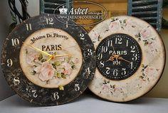 decoupage clock