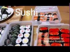 Cara Mudah Membuat Sushi. - YouTube Easy Recipes, Easy Meals, Snack Box, Japanese Food, Sushi, Snacks, Make It Yourself, Youtube, Easy Punch Recipes