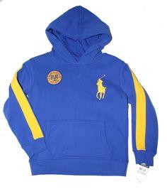 Ralph Lauren Polo Boys Big Pony Pullover Hoodie Fleece Long Sleeves Size 2T NWT #RalphLauren #DressyEveryday
