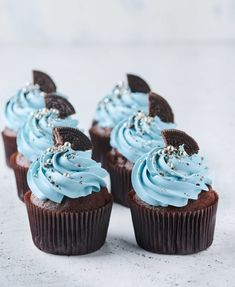 Best Chocolate Cupcakes, Cupcake Icing, Birthday Cakes For Women, Cute Desserts, Dessert Decoration, Diy Cake, Sweet Cakes, Mini Cakes, Cupcake Recipes