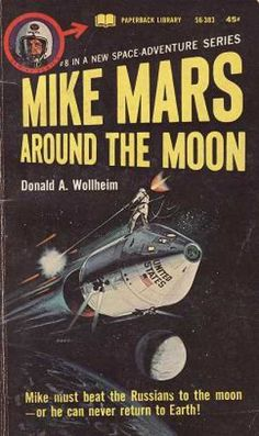 Vintage Books - Mike Mars Around the Moon - Donald A. Wollheim