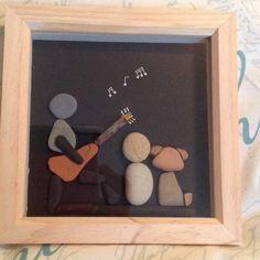 Stone Pictures Pebble Art, Pebble Stone, Stone Art, Dot Art Painting, Pebble Painting, Stone Painting, Stone Crafts, Rock Crafts, Arts And Crafts