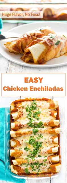 Easy Chicken Enchiladas via Fox Valley Foodie vegetarian mexican recipes; Authentic Mexican Recipes, Vegetarian Mexican Recipes, Mexican Dessert Recipes, Mexican Chicken Recipes, Easy Chicken Recipes, Beef Recipes, Cooking Recipes, Dinner Recipes, Yummy Recipes