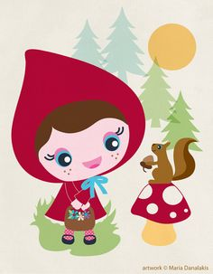 Little Red Riding Hood by maria danalakis