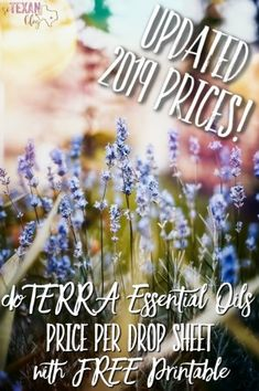 Updated 2019 doTERRA Essential Oils Price per Drop Sheet Free Printable-- Perfect for Wellness Advocates to show friends, family, and prospective enrollees just how inexpensive these amazing oils can be!