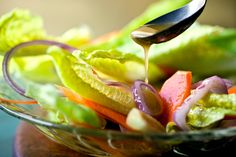 A generous spoonful of Dijon mustard makes this vinaigrette creamy and tart Use the dressing with sturdy salad greens