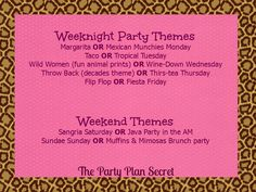 Offer theme parties based on the day of the week that the party is, easy for you, fun for the hostess!  www.thepartyplansecret.com