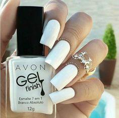 esmaltes para o verão 2016 - Branco Absoluto da  Avon Gel Finish