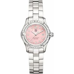 TAG Heuer Aquaracer Womens Watch WAF141B.BA0813    This Beautiful Ladies TAG Heuer WAF141B - Diamond Dial and Diamond Bezel. Pink Mother of Pearl Dial -    Today's Deal of the Day!