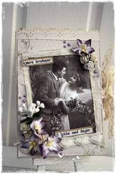 Wedding Card by LLC DT Member Elin Torbergsen, using papers from Pion Design's A Day in May collection.