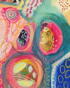 Colorful ornament with different shaped circles… Lisa Baker Art Mixed art doodle. Colorful ornament with different shaped circles and ovals. Art Journal Inspiration, Painting Inspiration, Art Inspo, Art Doodle, Art Plastique, Moleskine, Art Lessons, Watercolor Art, Design Art
