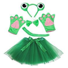 Petitebella Crown Headband Bowtie Tail Gloves Tutu Unisex Children Girl Costume Crown Frog ** You can locate more details by visiting the image web link. (This is an affiliate link). Halloween Masquerade, Adult Halloween Party, Diy Costumes, Halloween Costumes, Fancy Dress, Dress Up, Frog Costume, Green Tutu, Kids Headbands