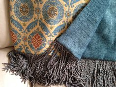 Awesome Aqua!!!!  Timely and timeless throw blanket with cutting edge Ikat pattern, this throw blanket is the ultimate designer addition to any home decor.  Contact me through ETSY for details https://www.etsy.com/shop/AlexsAttic.   Throws can also be seen locally at Ashley Carol Home and Garden in Cornelius, NC!!!!