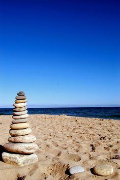 Vaill Beach stones, Block Island, Rhode Island      #VisitRhodeIsland