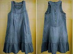 Resultado de imagem para vestido jeans