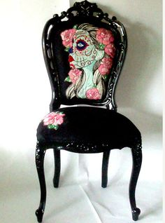Day of the Dead Chair Zoe