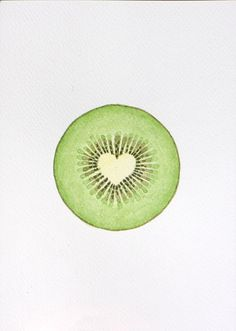 Watercolor painting Giclee print kiwi fruit watercolor painting illustration watercolor kitchen wall decor green food art by VApinx by VApinx on Etsy https://www.etsy.com/listing/213979254/watercolor-painting-giclee-print-kiwi