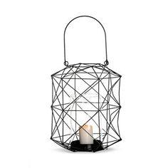 Simple Windlicht Metall schwarz ca D x H cm