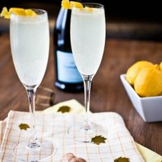The Brooklyn Beauty made with gin, prosecco, lemon juice, and St. Germain