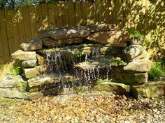 Decorating. Amazing Backyard Waterfalls Design Ideas. Small Stone Backyard Waterfall Ideas Featuring Backyard Pondless Waterfall Ideas