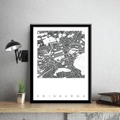 These Edinburgh Map Prints are signed Limited Editions and will make the perfect addition to any home or office or gifts fro travel lovers.Bronagh Kennedy is a London Based Artist with a background in Architecture and Urban Design who transforms maps of UK, European and International cities into stunning graphic contemporary wall maps. Each art prints takes up to 5 DAYS to create and captures the unique personality of each city. Bronagh's simple contemporary style focuses on each cities…