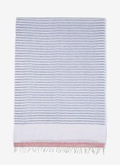 Foulard de lino con print marinero - ADOLFO DOMINGUEZ Woman Spring Summer 2016