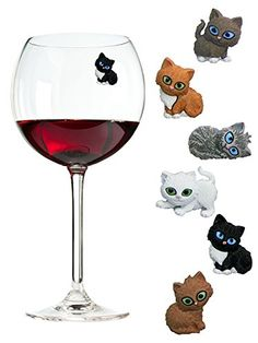 Simply Charmed Cat Wine Charms or Glass Markers - Magnetic - Great Birthday or Hostess Gift for Cat Lovers - Set of 6 Cute Kitty Glass Identifiers Simply Charmed http://www.amazon.com/dp/B01BB2FP3C/ref=cm_sw_r_pi_dp_EZ09wb04VV9NJ