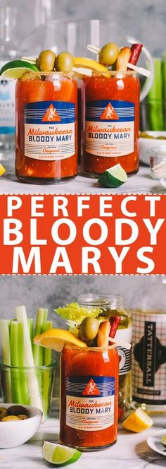 these best bloody marys are going to be your favorite addition to your weekend brunch line up! they start with the perfect homemade bloody mary mix, which infuses tomato juice with tons of flavor. invite your friends over for a casual saturday brunch & pr Homemade Bloody Mary Mix, Bloody Mary Bar, Bloody Mary Recipes, Easy Cocktails, Craft Cocktails, Cocktail Recipes, Drink Recipes, Classic Cocktails, Healthy Alcoholic Drinks