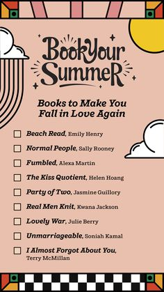 Find all the love you need in the pages of these books. Save this handy checklist so you don't miss out on summer romance. Teen Romance, Romance Books, Summer Romance, I Love Books, Books To Read, Books For Teens, Teen Books, Falling In Love Again, Summer Books