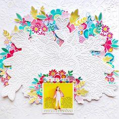 Cutie Pie Layout Featuring Texture | @paigeevans @pinkpaislee #scrapbooking